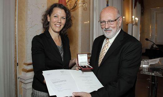 Peter Nigst nahm die Auszeichnung in Wien entgegen