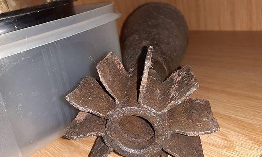 30 Zentimeter lang ist die in Villach gefundene Werfergranate