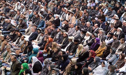 Aufnahme von der letzten Loya Jirga in Kabul, im Jahr 2013