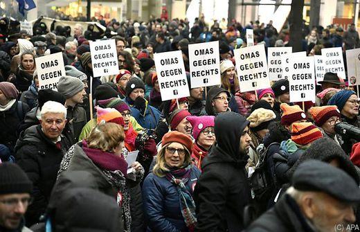 Wien: Zahlreiche Proteste gegen rechtskonservative Regierung