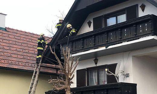 Die Feuerwehren übernahmen die Nachlöscharbeiten