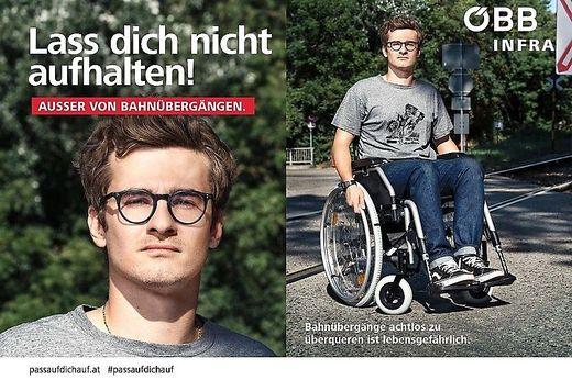 """ÖBB-Kampagne: Kritik: """"Verstörende"""" Darstellung von Menschen mit Behinderung"""