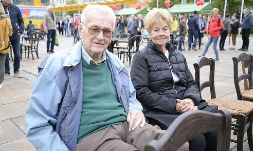 Kollege Gustl Damberger mit seiner Gattin Friederike beim Kleine Zeitung-Fest kürzlich in Bruck