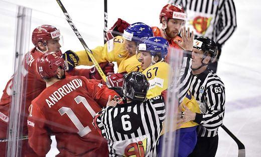 Russland gegen Schweden gab es in der Vorrunde - Russland gegen Kanada im Viertelfinale