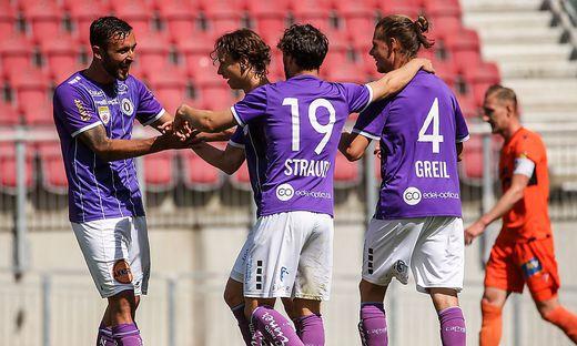 Sind bis in die Haarspitzen motiviert: Patrick Greil und Co. wollen aus Wien drei Punkte mitnehmen