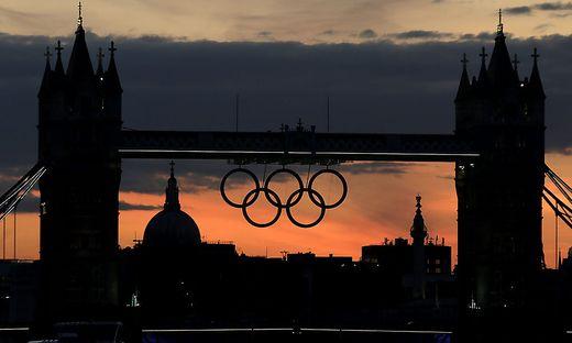 Die Olympischen Ringe in London 2012
