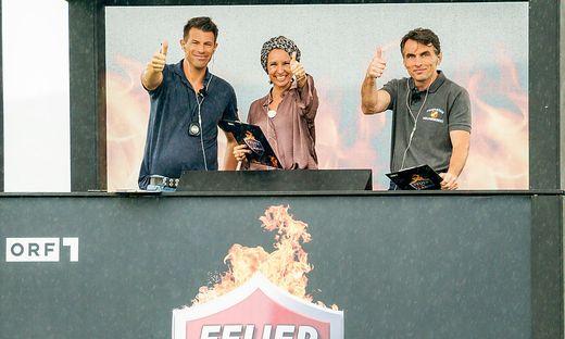Die Jury: Feuerwehrmann Herbert Krenn, Anna Demel und Toni Klein