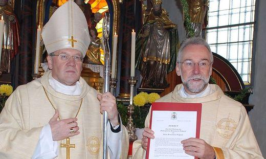 Vorgänger und Nachfolger: Bischof Alois Schwarz, Josef Marketz