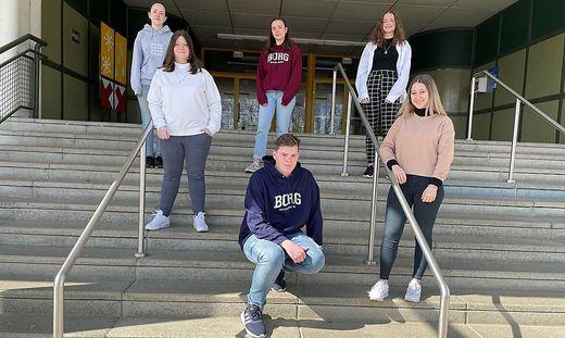 Das Schüler machen Zeitung-Redaktionteam des Borg Deutschlandsberg