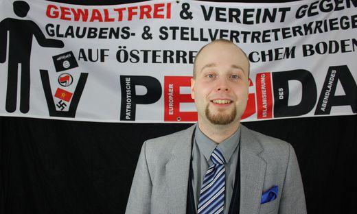 Der Sprecher von Pegida Wien: Georg Immanuel Nagel