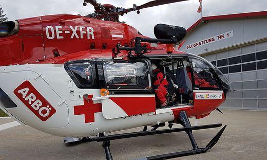 Der RK 1 brachte den Verletzten ins LKH Villach