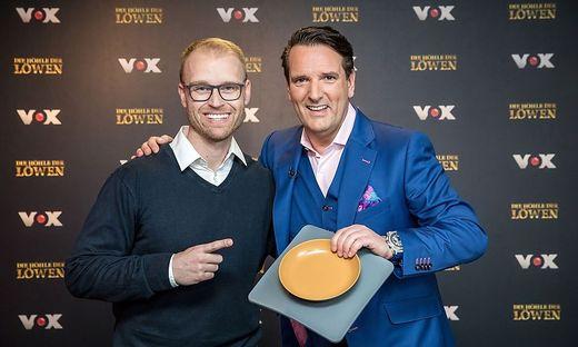 Marcus König und Investor Ralf Dümmel