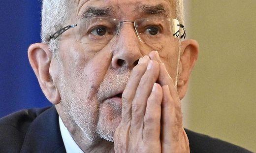 Österreichs Bundespräsident Alexander Van der Bellen: ensetzt