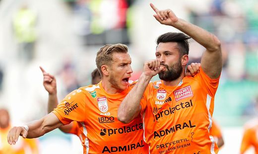 Dario Tadic traf zum 2:0 für Hartberg