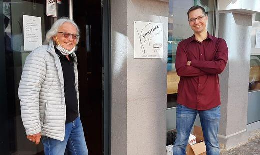 Michael Lang und Patrick Kofler vor dem Vipresso