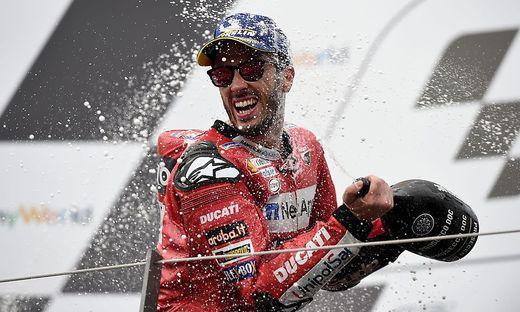Andrea Dovizioso (Bild) gewann das Kopf-an-Kopf-Rennen gegen Marc Marquez