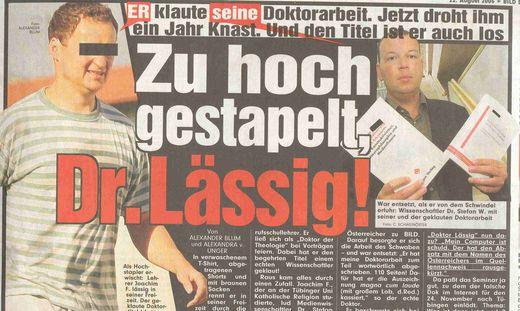 So begann es: Stefan Weber wurde Plagiats-Opfer