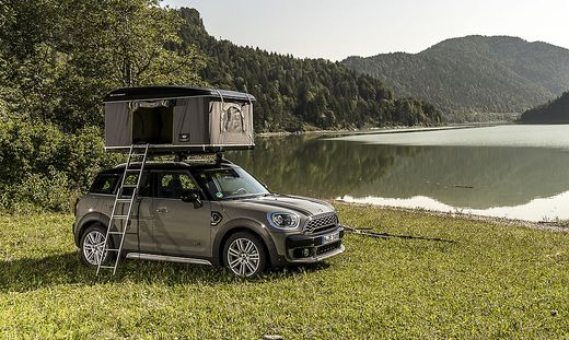 camping mit dem mini countryman und ber allen d chern. Black Bedroom Furniture Sets. Home Design Ideas