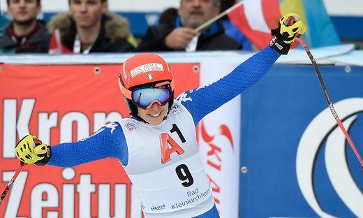 Die Italienerin Frederica Brignone gewann vor Lara Gut