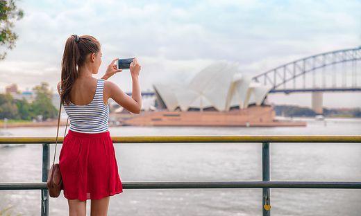 Das Fotobuch wird direkt auf der Handy-App gestaltet