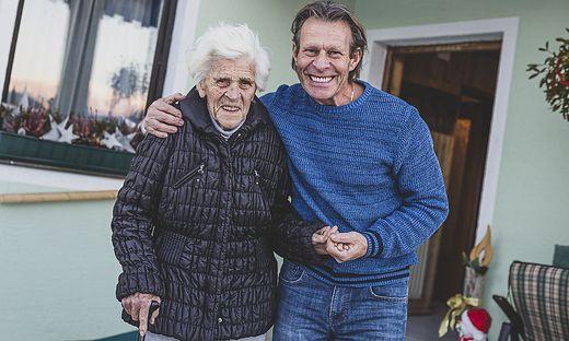 Wieder daheim. Franz Polanz hat seine 95-jährige Mutter aus dem LKH Wolfsberg heimgeholt