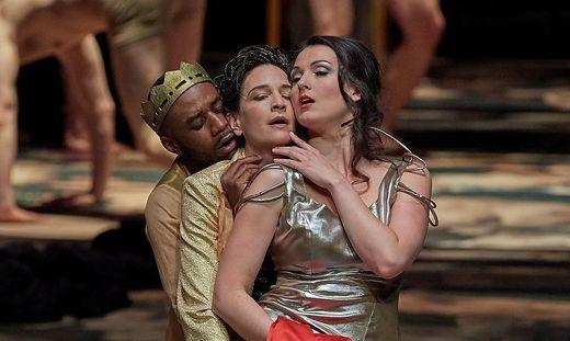 Der Tänzer Camilo Mejía Cortés, Kate Lindsey (Nerone), Slávka Zámečníková (Poppea)