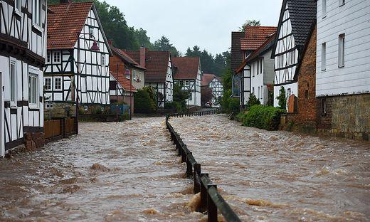Verheerendes Hochwasser Nordhessen im Juli
