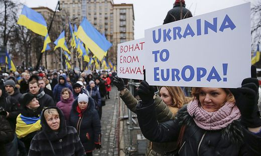 UKRAINE EU PROTESTS ANNIVERSARY