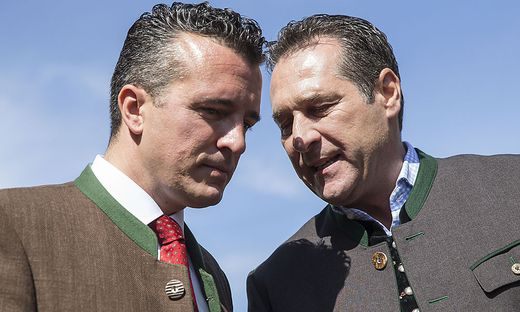 Gernot Darmann (links) will sich zu Ex-Parteichef Heinz-Christian Strache nicht äußern