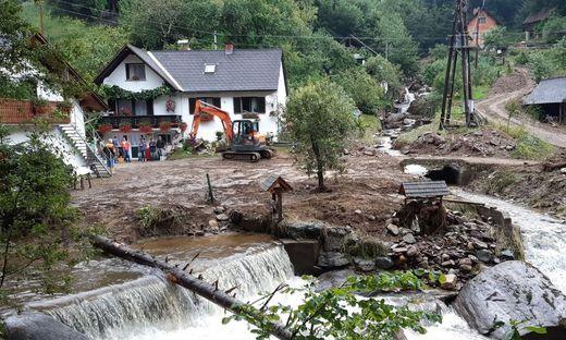 Die Unwetter hinterließen im Raum Schwanberg große Schäden