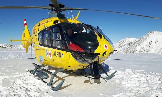 Der Hubschrauber Alpin 1 war im Einsatz