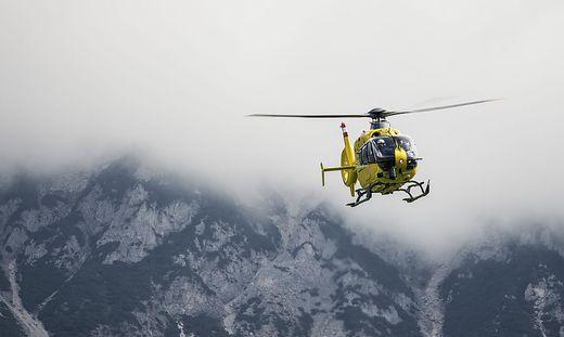 Die Wanderer wurden per Hubschrauber gerettet
