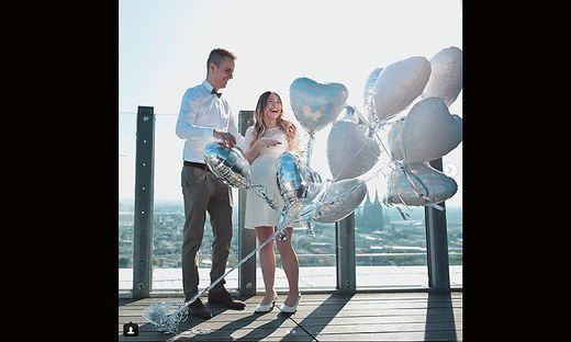 Bibi und Julian bei ihrer Hochzeit