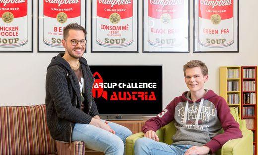 Der Deutschlandsberger Samuel Koch (links) und Matthäus Konradsheim gründeten die Start-up-Challenge