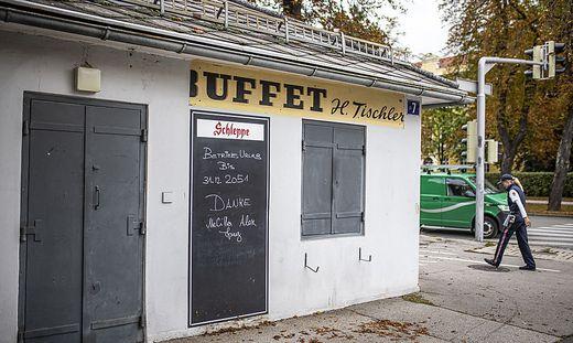 Schlieszung Lokal Onkel Toms Huette Klagenfurt September 2021