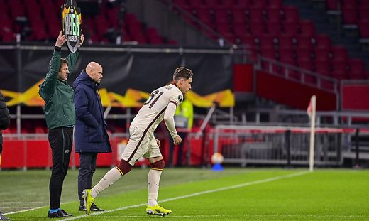Photo Fabio Rossi/AS Roma/LaPresse 08/04/2021 Amsterdam (NLD)) Soccer Ajax-Roma Round of 8 , 1st leg - Europa League 202