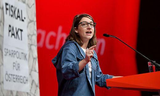 EU-Kandidatin Julia Herr (SPÖ), hier beim Bundesparteitag im November.