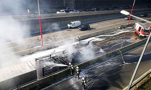 Die Feuerwehrleute konnten den Brand löschen