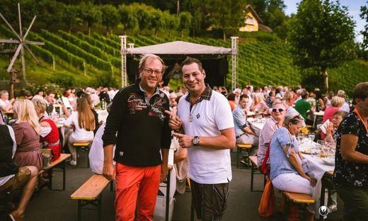 Schlagerstar André Fenna und Moderator Jürgen Fuchs sorgten für Stimmung
