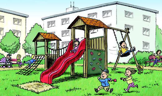 Spielplätze müssen so ausgestattet sein, dass sie sicheres Spielen im Freien ermöglichen