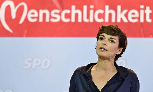 Parteichefin Rendi-Wagner im Wahlkampf