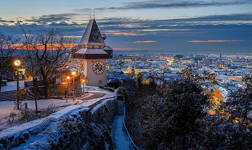 Graz Schloßberg Winter