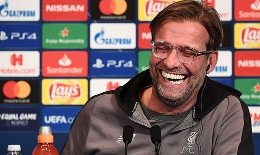 War wieder für einige Lacher gut: Liverpool-Trainer Jürgen Klopp