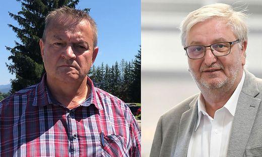 ATB-Betriebsrat Michael Leitner und SPÖ-Nationalratsabgeordneter Christoph Matznetter