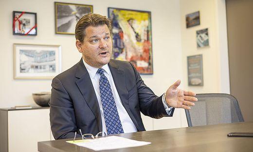 Oliver Vitouch will die Uni nicht in die Innenstadt verlegen und hat große Ausbaupläne für den Campus