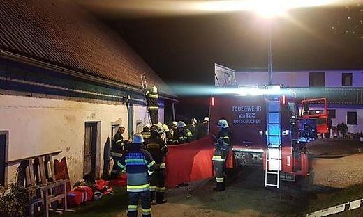 Die Feuerwehr musste die verunglückte Frau bergen
