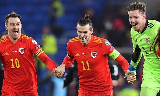 Wales-Star Gareth Bale (Mitte)