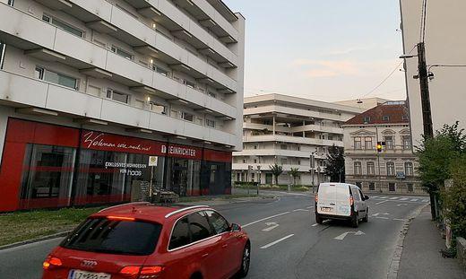 Die Ecke Plüddemanngasse/Walterndorfer Hauptstraße ist Sinnbild für die Bauwut in Graz