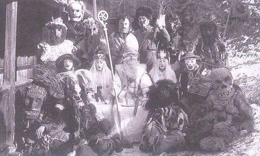 Uralt ist der Brauch in Matrei: Ein Foto von 1925 bezeugt das