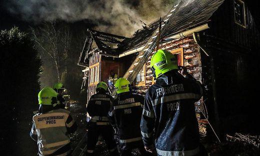 Die Feuerwehrleute - hier in Preg im Einsatz - leisteten ganze Arbeit. Kurz danach brannte es in Kobenz